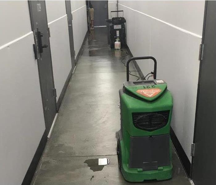 SERVPRO Equipment in a hallway